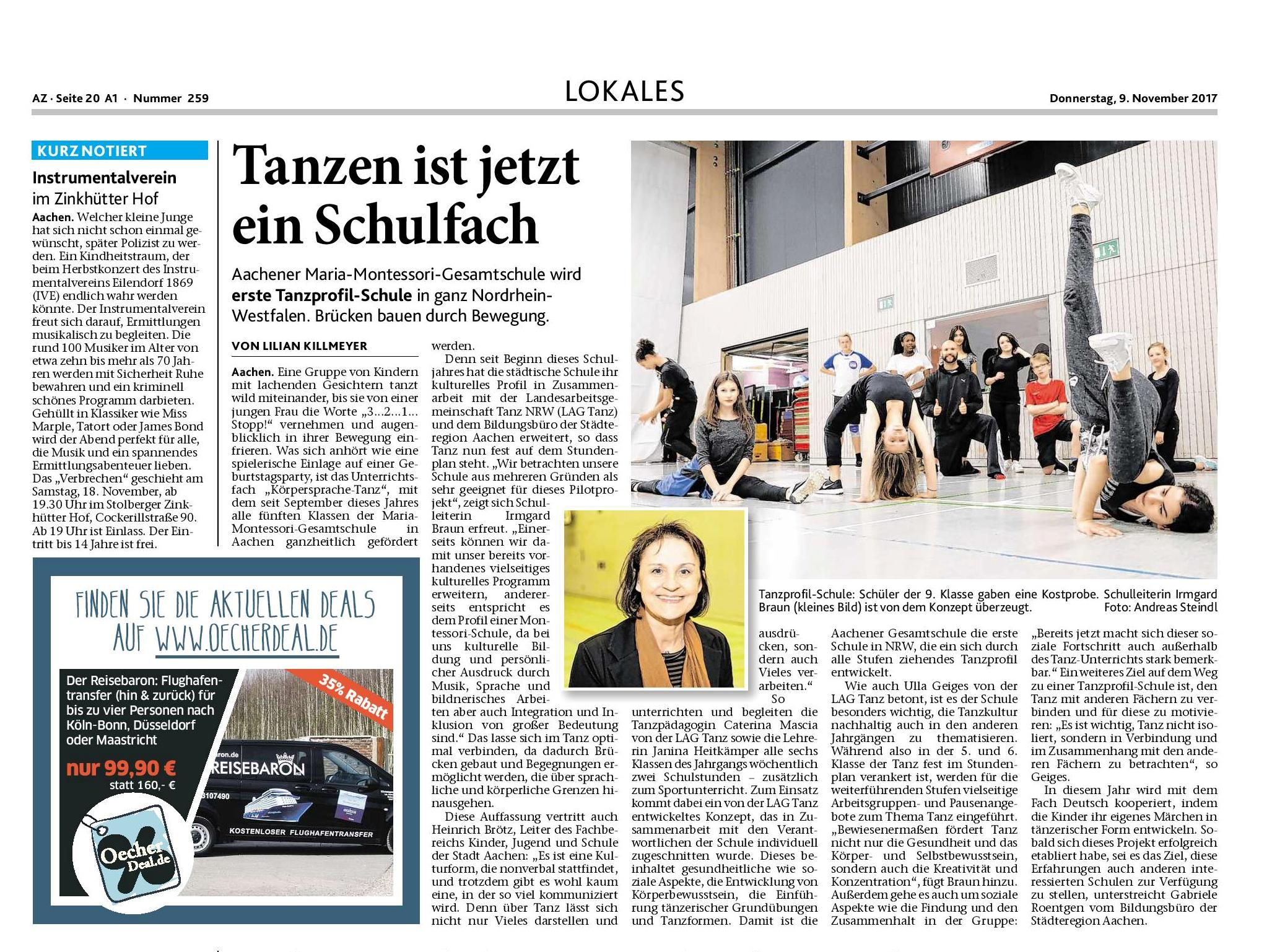 Erste Tanzprofil-Schule in NRW