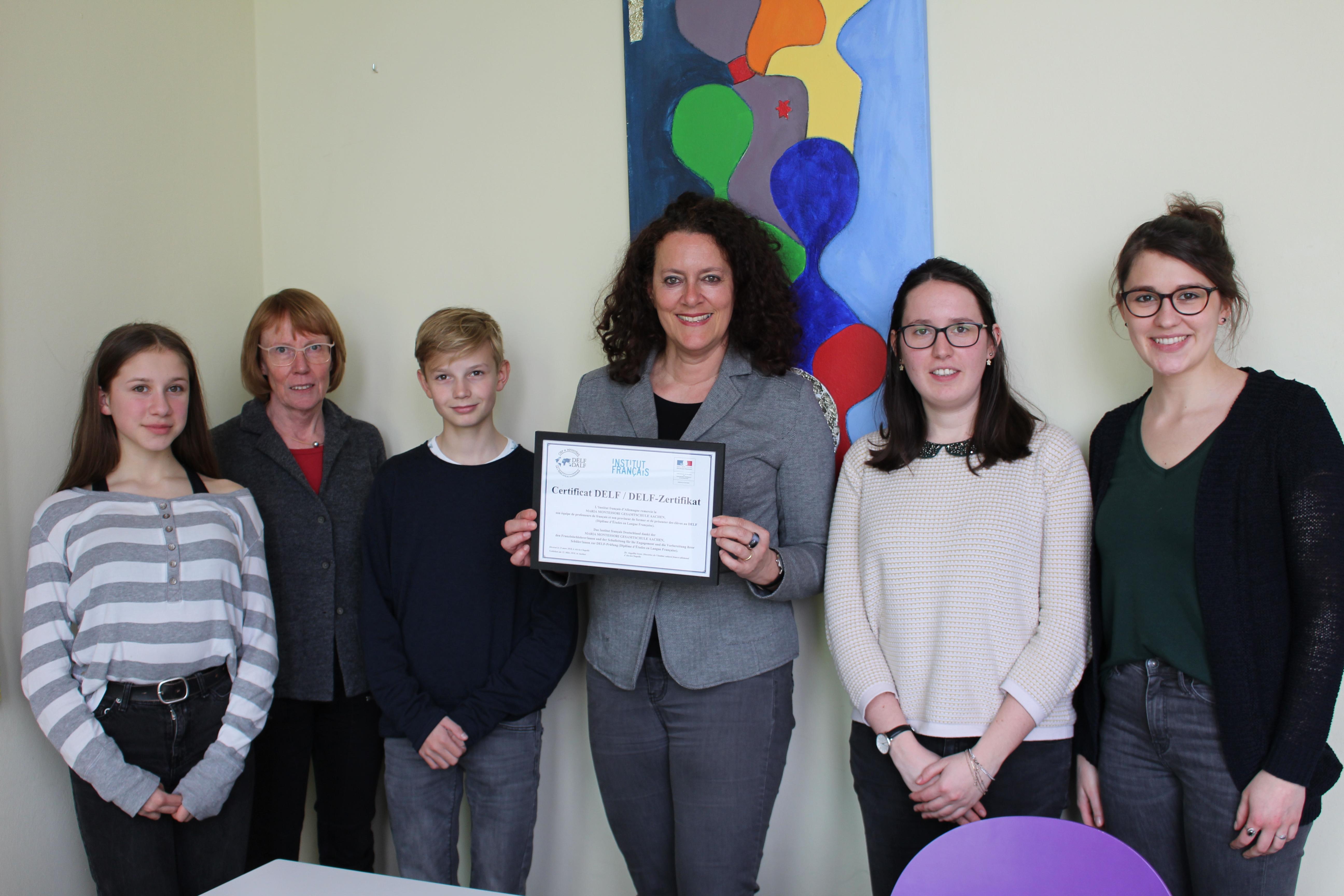 Aachener Maria Montessori Gesamtschule wird DELF-Partnerschule